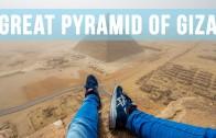 De grote piramide van Giza beklimmen