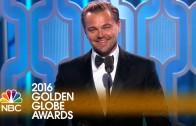Leonardo Dicaprio wint Oscar