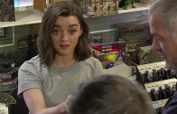 Game of Thrones actrice grapt met fans