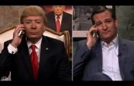 Ted Cruz belt met Donald Trump