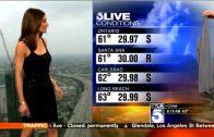 Weervrouw op TV terug gefloten om 'te blote' jurk