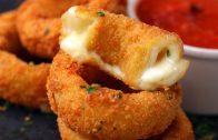 Heerlijke mozzarella uien ringen