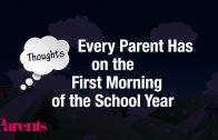 De gedachten van ouders op de eerste schooldag