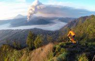 Crossen bij een vulkaan
