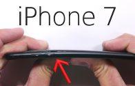 Kras- en buigtest matzwarte iPhone 7