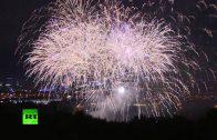 Spectaculair vuurwerk in Moskou