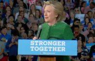 """Clinton: """"Trump is een gevaar voor de democratie"""""""