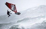 Windsurfen tijdens een orkaan