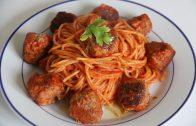 In een minuut spaghetti met gehaktballen!