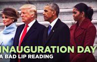 Slecht liplezen op de inauguratiedag van Trump