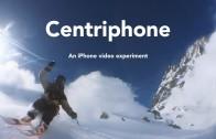 Skiër doet iPhone aan een touwtje