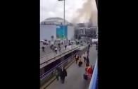 Beelden aanslag in Brussel