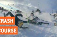 Skiërs gaan neer