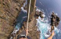 Slacklinen op 32 meter hoogte in Australië