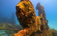 Een onderwater begraafplaats